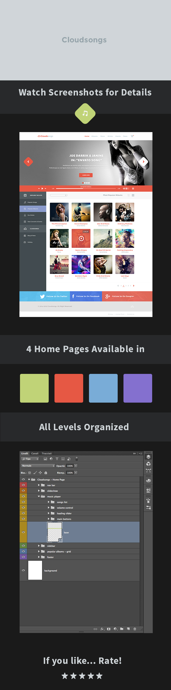 Cloudsongs - Music E-Commerce Template - 1