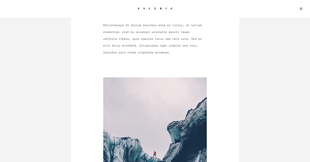 Valeria - Photography WordPress Theme - 2
