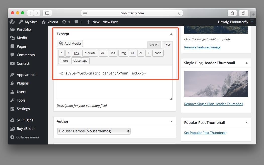 WordPress Documentation Blog Post Shortcode
