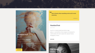 Agenzy Latest Article Thumbnail Single Page - Template WordPress on Envato Market