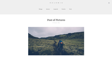 Valeria Thumbnail Blog - Template WordPress on Envato Market